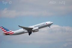 Airbus A330 American Airlines (Starkillerspotter) Tags: aa american airlines a330 charlotte airbus paris cdg airport clouds roissy transatlantic flight takeoff