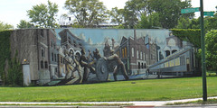 Pullman Mural (edenpictures) Tags: pullmanvisitorcenter chicago illinois pullman mural labor workers