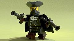 LEGO_Highwayman_LGM_Style_Pose (-Samino-) Tags: lego b3d blender blendermarket mecabricks highwayman bandit colonial pistols mask cape pbr shader material samino ldraw plastic