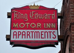 WI, Rice Lake-U.S. 53(Old) King Edward Motor Inn Neon Sign