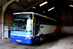 Under cover at Whithorn (Chris Baines) Tags: stagecoach volvo b7tl sf09 acx plaxton profile whithorn outstation