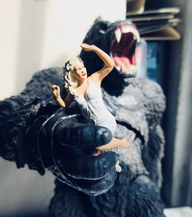 King Kong on Rampage with Fay Wray type 5421 (Brechtbug) Tags: king kong gorilla mezco toy monster portrait plastic walking spitting sparks creature rko empire state building new york city july 07142019 nyc 2019 shelf toys action figure wild shadow shadows gorillas fay wray type heroine