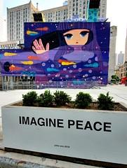 Purple Peace Piece (Neil Noland) Tags: groundzero worldtradecenter freedomtower lowermanhattan manhattan newyorkcity nyc bigapple newyork