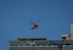 Medivac Landing (jeffb477) Tags: helicopter orange toronto ontario canada canadian stmichaels emergency nikon d7100 landing medivac