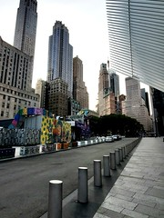 WTC & Street Art (Neil Noland) Tags: groundzero worldtradecenter freedomtower lowermanhattan manhattan newyorkcity nyc bigapple newyork
