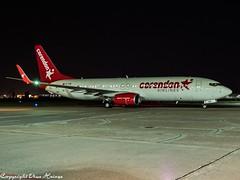 Corendon Airlines TC-COE HAJ at Night (U. Heinze) Tags: aircraft airlines airways airplane olympus planespotting plane night flugzeug haj hannoverlangenhagenairporthaj eddv