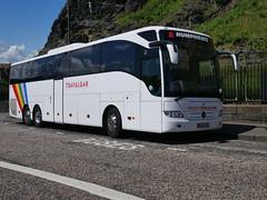 Humphries Coaches of Thatcham, Coach Miles, Mercedes Benz Tourismo BX64CZU, in Trafalgar Tours livery, at Johnston Terrace, Edinburgh, on 10 June 2019. (Robin Dickson 1) Tags: busesedinburgh humphriesofthatcham coachmiles mercedesbenztourismo bx64czu trafalgartours