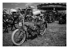 FILM - Raleigh Wisp (fishyfish_arcade) Tags: 35mm analogphotography bw blackwhite blackandwhite filmphotography filmisnotdead hp5 istillshootfilm monochrome nikkor2880f3556afd nikonf80 sheffieldsteamrally analogcamera compact film ilford mono bike moped