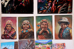 Handicraft in Pisac Market (misseka) Tags: peru sacredvalley pisac craft market handicraft painting