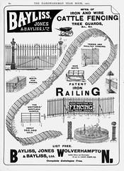 Bayliss Jones & Bayliss, Wolverhampton. 1907 (growlerthecat) Tags: wroughtiron fencing gate railings bayliss wolverhampton ironwork