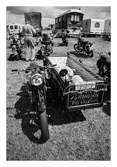 FILM - Pig bike (fishyfish_arcade) Tags: 35mm analogphotography bw blackwhite blackandwhite filmphotography filmisnotdead hp5 istillshootfilm monochrome nikkor2880f3556afd nikonf80 sheffieldsteamrally analogcamera compact film ilford mono bike motorcycle sidecar pigs