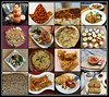 2019 Sydney: Savoury Food/ Meals collage #5 (dominotic) Tags: 2019 food savouryfood meals bread eggs chillipeanuts sataychicken bacontoastscrambledeggs savouries fishandchips caesarsalad dumplings padthai shallotpancake meatpie potatopizza tomatosauce quiche foodphotography yᑌᗰᗰy foodcollage sydney australia