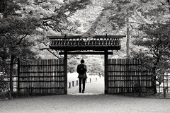 Welcome (Abhay Parvate) Tags: japanese garden gate nature blackandwhite
