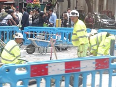 sorting out the gas (gerrypopplestone) Tags: chancerylane london digging construction manual workers