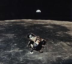 Lunar Module Ascent (NASA APPEL Knowledge Services) Tags: apollo11 moon lunarmodule lm earthrise space cosmos