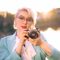 80s Vibes (trm42) Tags: vintagecamera 80s olympus cameraporn vanhankaupunginlahti sonya7iii olympusom portraiture sunsetportrait olympusom4ti vintage ektar 55mm