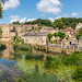 Bradford-on-Avon (Keith now in Wiltshire) Tags: bradfordonavon town river avon cotswold stone building canoe tree landscape sky reflection water historic wiltshire kayak