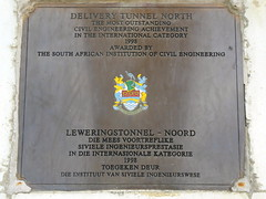 Plaque Delivery Tunnel North (Proteus_XYZ) Tags: southafrica freestate karoo clarens ashriveroutfall outletofdeliverytunnelnorthoflesothohighlandswaterproject transcaledontunnelauthority