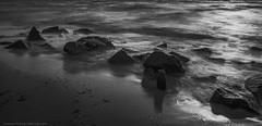 Diagonal (Thomas Pohlig) Tags: sunset summer surf sunbeams seashore sea seascape seaside jersey jerseyshore sand beach rocks landscape capemay blackandwhite blackandwhitephotography monochrome mono