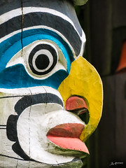 Vancouver Totempole_1 (Joachim Spenrath Münster, Germany) Tags: stanleypark canada vancouver totempole carving tourism firstnation traditional colourful brocktonpoint sigtseeing face