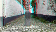 Lier Antwerpen Belgium 3D (wim hoppenbrouwers) Tags: lier antwerpen belgium 3d anaglyph stereo redcyan begijnhof