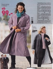 Journey into the past (betrenchcoated) Tags: vintage scans coat trenchcoat raincoat 90s mantel regenmantel maxicoat