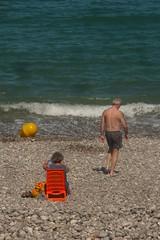 La tranquillité des plages normands (mistigree) Tags: normandie fécamp bouée jaune orange mer plage