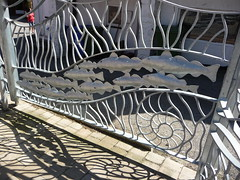 Fishy gates (Martellotower) Tags: silver street whitby metal work fishy gates ammonites