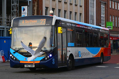 SN67 WWH, Commercial Road, Portsmouth, December 27th 2018 (Southsea_Matt) Tags: sn67wwh 26163 route23 alexanderdennis adl enviro200 e200 mmc commercialroad portsmouth hampshire england unitedkingdom december 2018 winter canon 80d stagecoach southdown bus omnibus vehicle transport