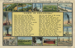 1938 Down in Oklahoma A_2-LR (Boxplan) Tags: postcard oklahoma oklahomacity okc ok okla oklahomacounty americancity historic 20thcentury downinoklahoma oil oilrig poem 1938