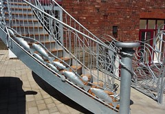 Fishy stairs (Martellotower) Tags: silver street whitby metal work stairs fish shoal