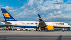 Icelandair B752 TF-ISK taxiing to its remote gate (JonathanSzt) Tags: icelandair 757 b757 planespotting yul montreal taxiing gate tfisk