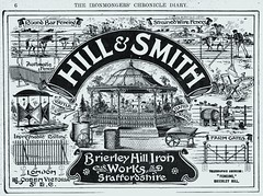 Hill & Smith. 1906. (growlerthecat) Tags: gate railings fencing bandstand hillsmith brierleyhill ironwork wroughtiron castiron