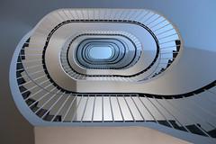 The Oval (Elbmaedchen) Tags: staircase stairwell steps stufen stairs treppenhaus treppenauge treppe treppenstufen upanddownstairs interior escalier roundandround spirale oval architecture architektur kurven linine curves lines upstairs