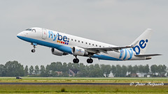 G-FBJI  Embraer ERJ-175 - Flybe (Peter Beljaards) Tags: msn17000355 cf34 takeoff departure ams eham haarlemmermeer nikon70300mmf4556 aviationphotography lowcost budget flybe gfbji embraererj175 embraer 36l runway36l schiphol