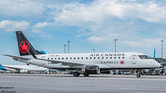 Air Canada Express  E75S (JonathanSzt) Tags: cfeiq aircanadaexpress erj e75s erj175 embraer planespotting planephotography spotting montreal taxiing gate aviation airplane