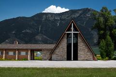 Chapel In The Valley • Swan Valley, Idaho (treydanger) Tags: panasonic panasonics1 idaho swanvalley architecture church mountains landscape schneider schneider90mmpcts pixelshift rollinghills silo