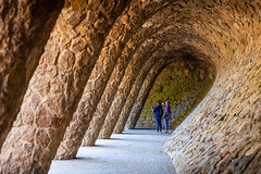Colonnaded pathway inside Park Guell of Gaudi (jack-sooksan) Tags: colonnaded pathway parkguell antonigaudi gaudi spain barcelona building europe urban art artist design famous construction attraction park curve historical indoor interior tourism stone rock tunnel vault cave underground hill architecture structure beautiful tourist landmark travel