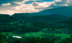 Hills and trees (Rico the noob) Tags: 2018 d850 lakedistrict 2470mm nature outlook mountains outdoor lake clouds 2470mmf28e trees tree travel forest house published sky dof water uk landscape mountain
