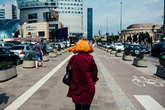 Flip (ewitsoe) Tags: 2019 nikon street warszawa erikwitsoe poland summer urban warsaw woman lady redhair ginger walking bob afternoon day light shadow fashion everydaymoments living travel