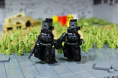 Ark & Arktwo out of the district (Devid VII) Tags: ark reaper black drone military diorama scene lego moc details devid vii district minifig minifigs minifigures drones minifigure