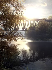 """""""Peace"""" (L1netty) Tags: thevanishingofethancarterredux thevanishingofethancarter theastronauts pc game gaming pcgaming videogame reshade screenshot virtual digital 4k landscape scenery nature trees leaves water river reflection bridge sky sun clouds color outdoor"""