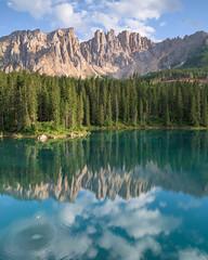 Karersee (Lago di Carezza) (markozorzin) Tags: italy italie dolomiten dolomites nikonz6 nikon seiseralm alpedisiusi alpedesiusi rosengarten kastelroth castelrotto alpen alps unescoworldheritage unesco southtyrol tyrol tirol lagodicarezza karersee
