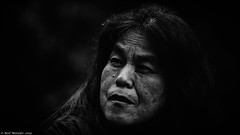 Simply unacceptable (Neil. Moralee) Tags: neilmoralee woman old mature native canadian aboriginal firstnation people portrait face dark scandel trust black white bw blackandwhite blackwhite mono monochrome neil moralee nikon d7200 canada emerald lake british columbia hard downtrodden suffering health poverty street candid