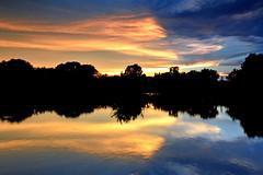 Break in the Action (NaturalLight) Tags: sunset water reflections chisholmcreekpark wichita kansas edge breaktime