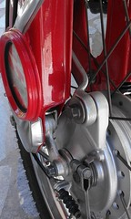 glx square headlight torque arm on press cub fork (A TEAR FOR YOU GREECE) Tags: ηθειάστρογγύλω honda cub 1982 greek greece red moped genuine japan specs