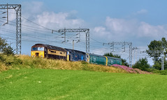 Arlington Stock Move (whosoever2) Tags: uk united kingdom gb great britain england nikon d7100 train railway railroad july 2019 alsager cheshire rog class57 57305 class47 47813 leicester liverpool allerton