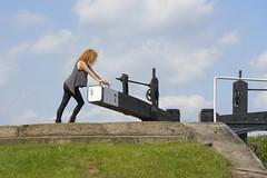LockWork (Tony Tooth) Tags: nikon d7100 nikkor 55300mm woman figure ginger lock canal maccclesfieldcanal bosleylocks bosley cheshire