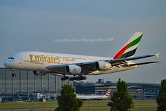 Emirates Airlines A6-EOB Airbus A380-861 cn/164 @ EGLL / LHR 26-05-2018 (Nabil Molinari Photography) Tags: emirates airlines a6eob airbus a380861 cn164 egll lhr 26052018