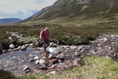 River Crossing (steve_whitmarsh) Tags: aberdeenshire scotland scottishhighlands highlands landscape mountain hills water river rocks topic